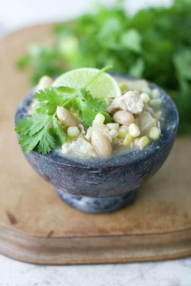 Turkey and corn chili with sweet white miso. (AP Photo/Matthew Mead) Photo: Matthew Mead / FR170582 AP