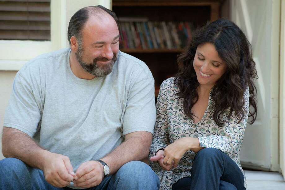 "This publicity photo released by Fox Searchlight shows Julia Louis-Dreyfus, right, and James Gandolfini in a scene from the film, ""Enough Said.""   (AP Photo/Fox Searchlight, Lacey Terrell) ORG XMIT: NYET931 Photo: Lacey Terrell / Fox Searchlight"