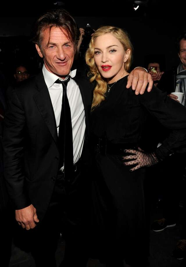 Sean Penn and Madonna attend Madonna and Steven Klein secretprojectrevolution at the Gagosian Gallery on September 24, 2013 in New York City.  (Photo by Kevin Mazur/Getty Images) Photo: Kevin Mazur, Getty Images