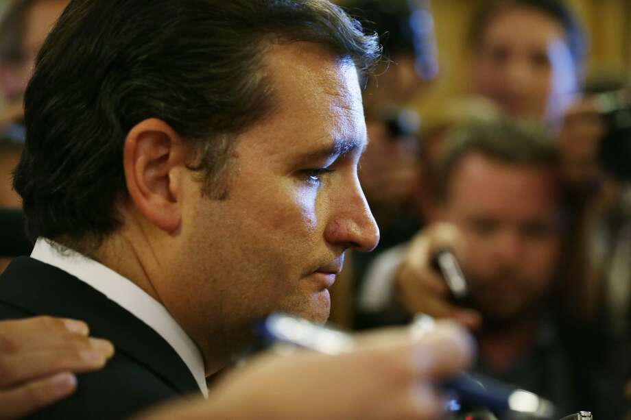 WASHINGTON, DC - SEPTEMBER 25:  U.S Sen. Ted Cruz (R-TX) speaks to members of the media as he comes out from the Senate Chamber after he spoke on the floor for more than 21 hours September 25, 2013 on Capitol Hill in Washington, DC. Sen. Cruz ended his marathon speech against the Obamacare at noon on Wednesday.  (Photo by Alex Wong/Getty Images) Photo: Getty Images