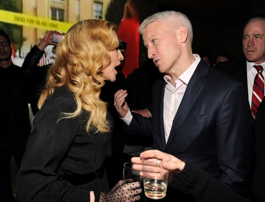 Madonna and Anderson Cooper attend Madonna and Steven Klein secretprojectrevolution at the Gagosian Gallery on September 24, 2013 in New York City.  (Photo by Kevin Mazur/Getty Images) Photo: Kevin Mazur, Getty Images