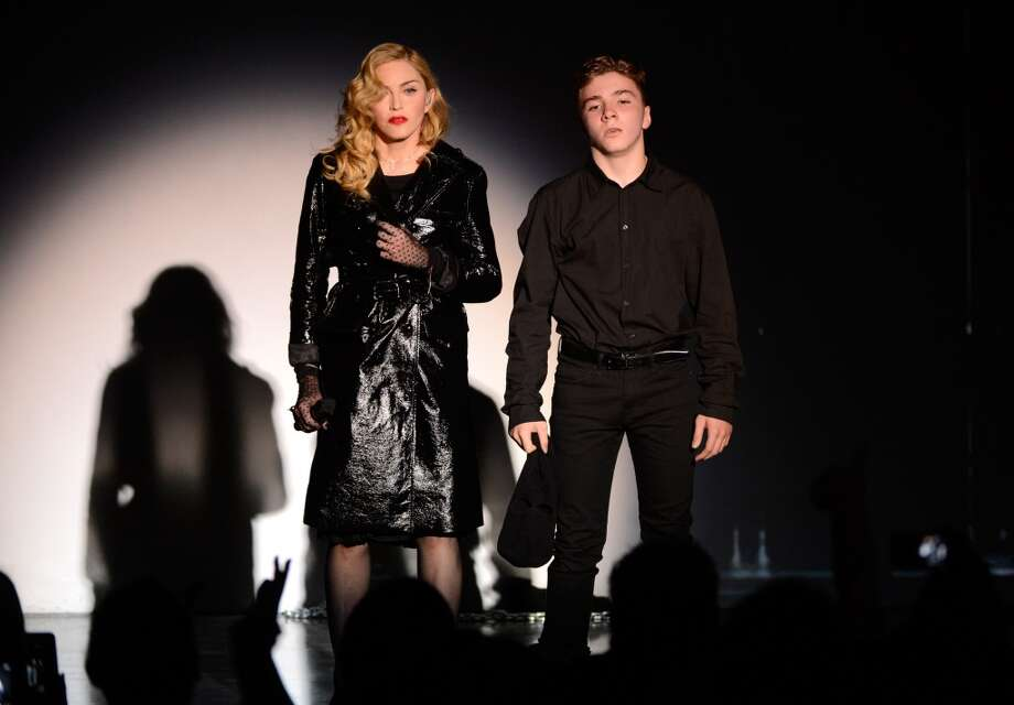 Madonna and Rocco Ritchie perform during Madonna and Steven Klein secretprojectrevolution at the Gagosian Gallery on September 24, 2013 in New York City.  (Photo by Kevin Mazur/Getty Images) Photo: Kevin Mazur, Getty Images