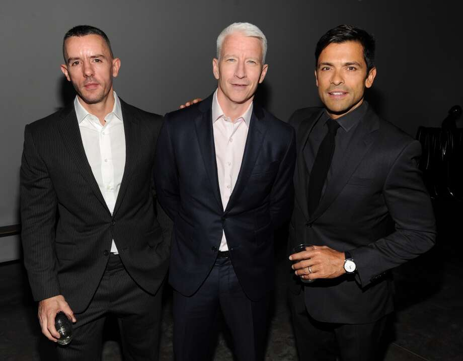 Benjamin Maisani, Anderson Cooper and Mark Consuelos attend Madonna and Steven Klein secretprojectrevolution at the Gagosian Gallery on September 24, 2013 in New York City.  (Photo by Kevin Mazur/Getty Images) Photo: Kevin Mazur, Getty Images