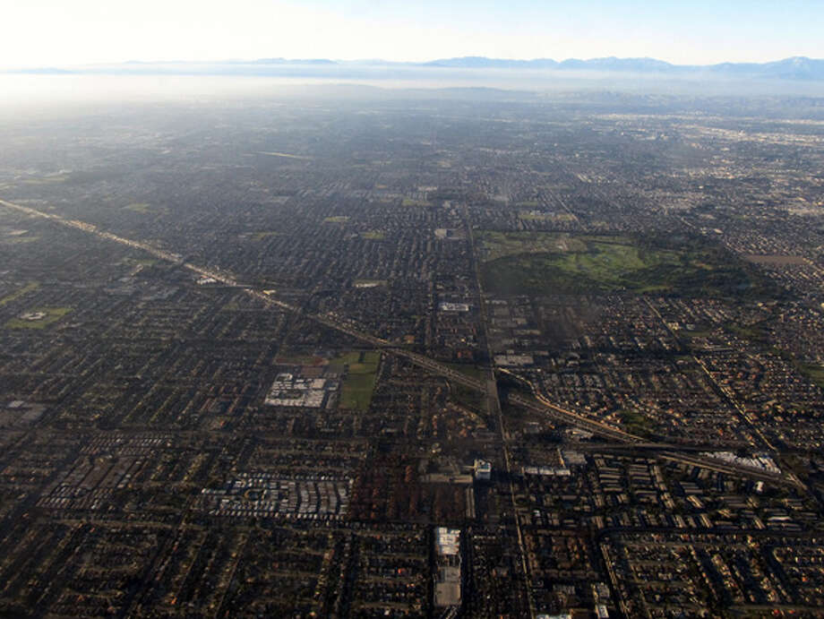 #4 Westminster, CA:  You can't see it from way up here, but the folks in Westminster are busy shopping at some high-end clothing stores.