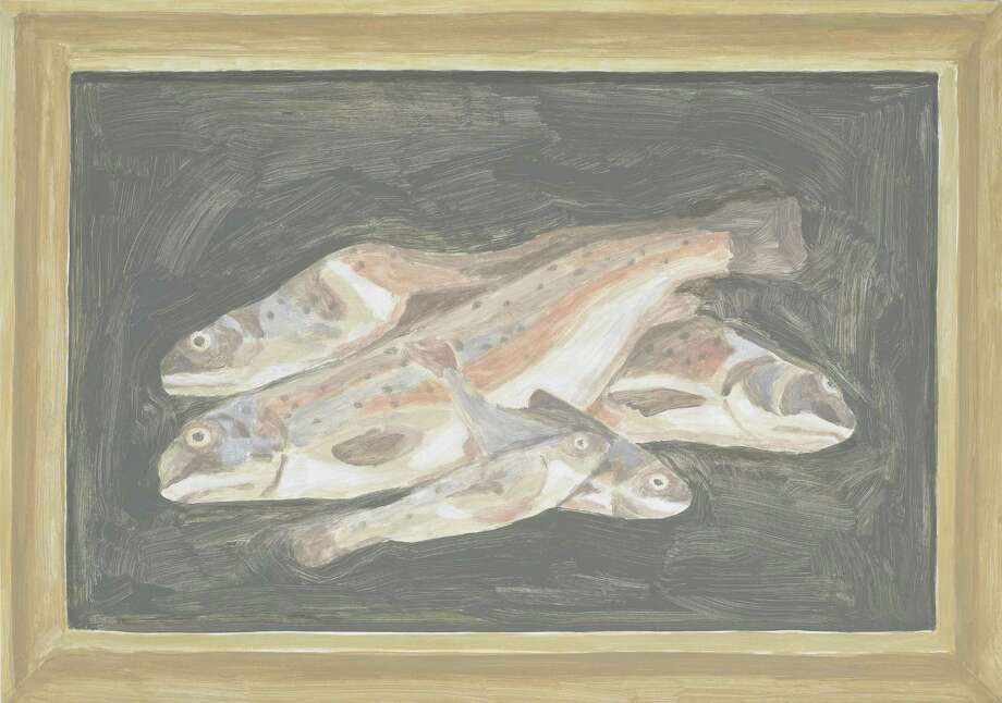 """""""Fish"""" by Francesca Fuchs, Number 5 on Bill Davenport's list of Houston's Top 10 painters. (And also his wife.) Photo: Francesca Fuchs"""