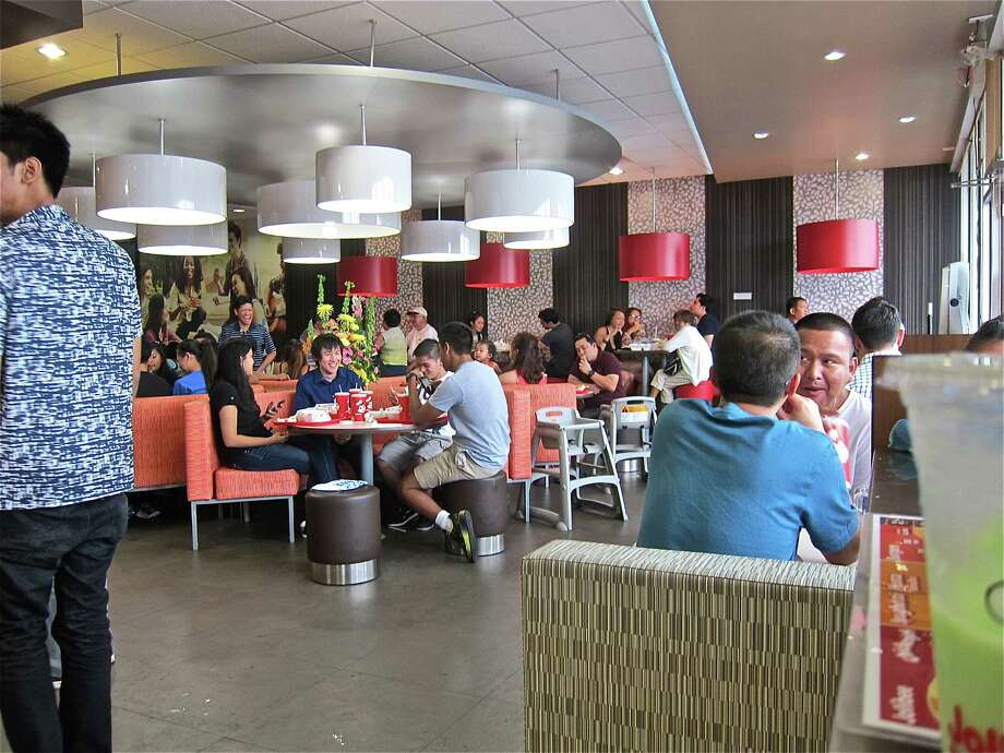 The retro midcentury look of Jollibee is an unexpected pleasure. Photo: Alison Cook