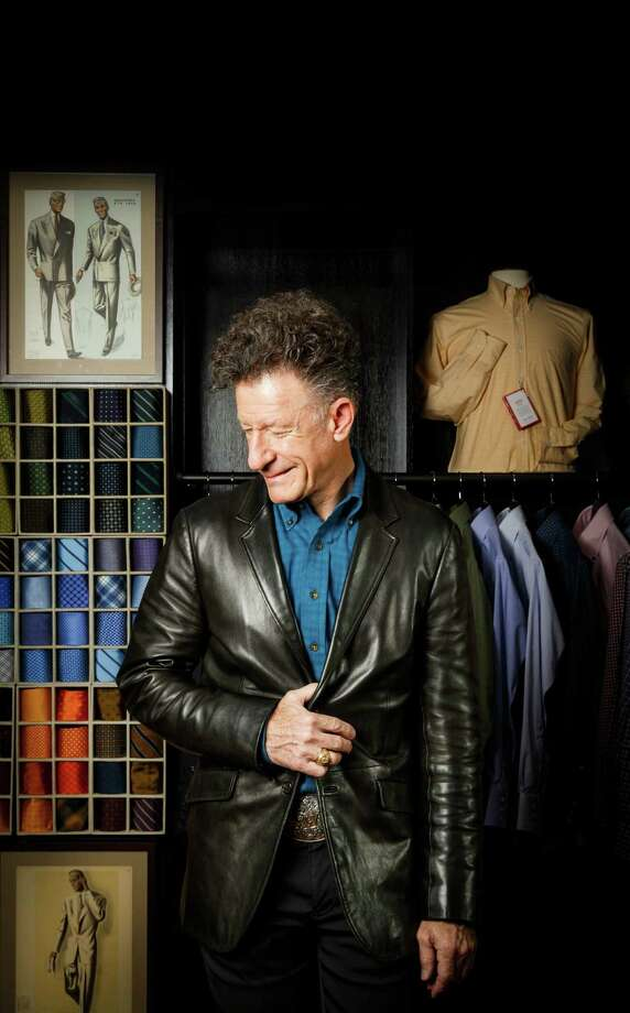 """You can communicate lots with how you choose to dress,"" says Lovett, the Klein-native wearing a leather Prada jacket, during  a photo shoot at Hamilton Shirts on Richmond. Photo: Michael Paulsen, Staff / © 2013 Houston Chronicle"