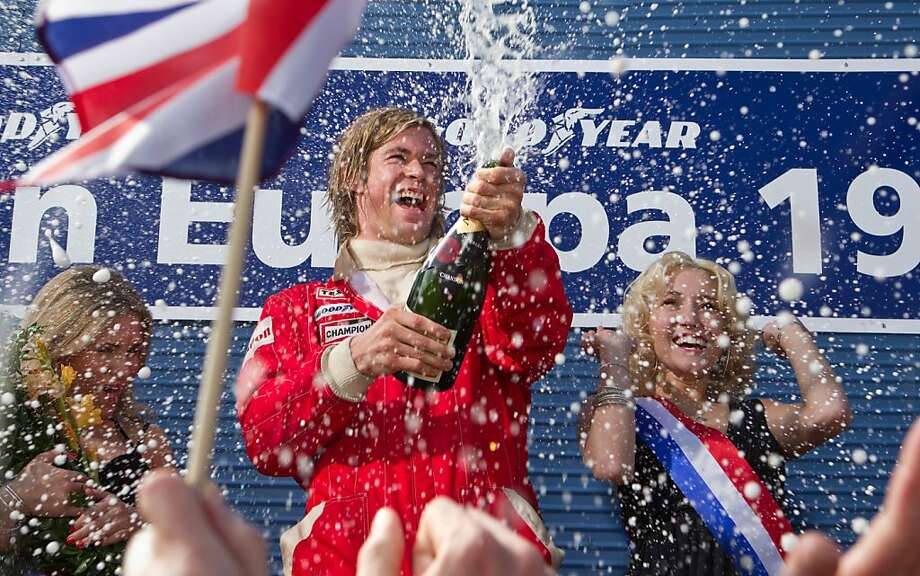 "CHRIS HEMSWORTH stars as the charismatic Englishman James Hunt in ""Rush"", two-time Academy Award¨ winner Ron Howard's spectacular big-screen re-creation of the merciless 1970s Grand Prix rivalry between Hunt and Niki Lauda. Photo: Jaap Buitendijk, Universal Pictures"
