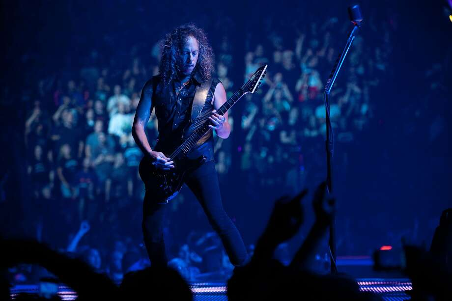 Guitarist Kirk Hammett in action in Metallica Through The Never, a music-driven 3D feature film that combines a bold narrative and live never-before-seen footage created exclusively for the film and performed by one of the most popular and influential rock bands in history. The film will be released by Picturehouse in North America on September 27, 2013, exclusively in over 300 IMAX¨ 3D Theatres, and will expand into additional theatres on October 4, 2013. Photo: Carole Segal, Picturehouse