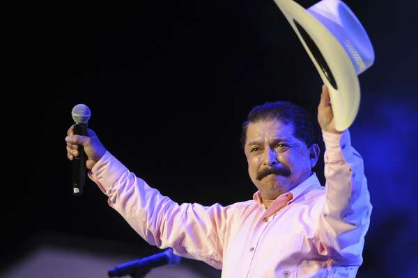 Emilio Navaira acknowledges applause after performing at the Tejano Music Awards at the Alamodome on Saturday, Aug. 18, 2012.