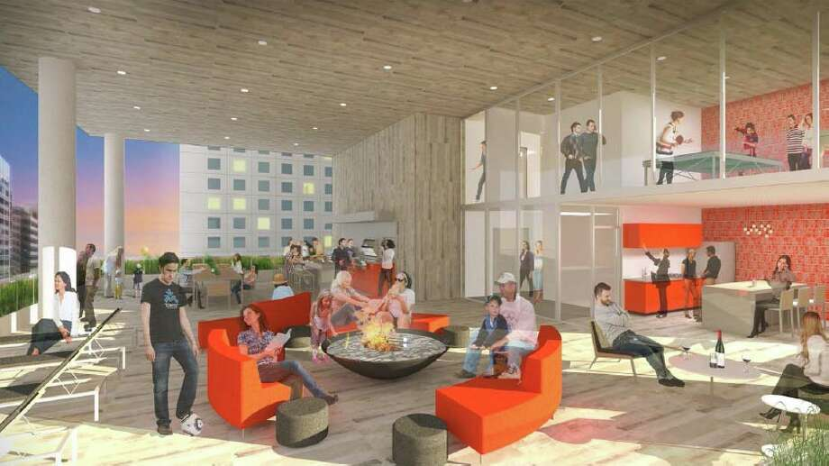 Here's a depiction of the outdoor amenity terrace. Photo: R.C. Hedreen Co., LMN Architects