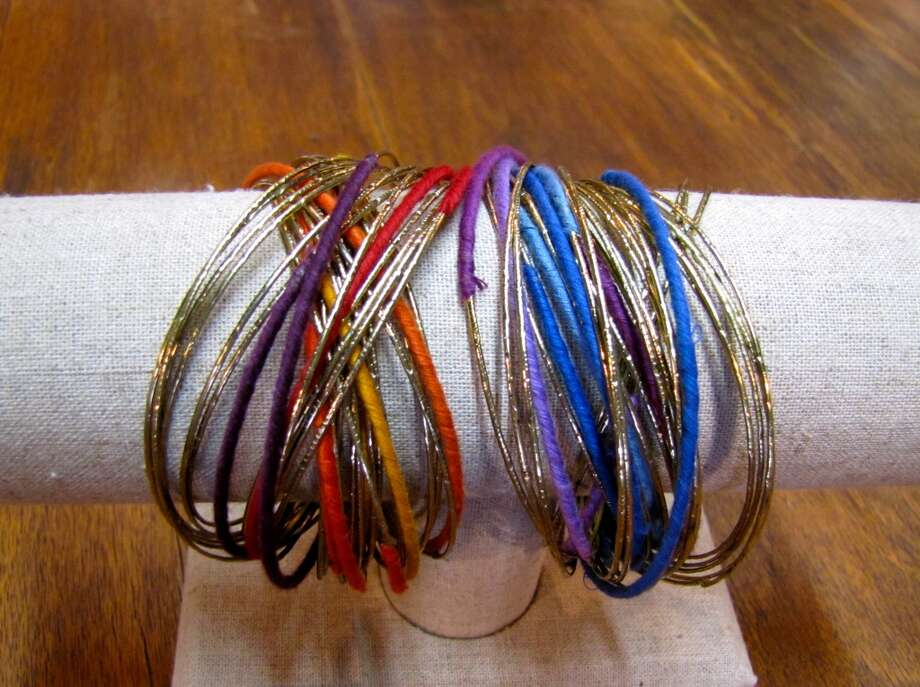 Embellished bangles, Icing on the Cake, $19 per set (two sets shown). Burns Antik Haus, Beaumont Photo: Cat5