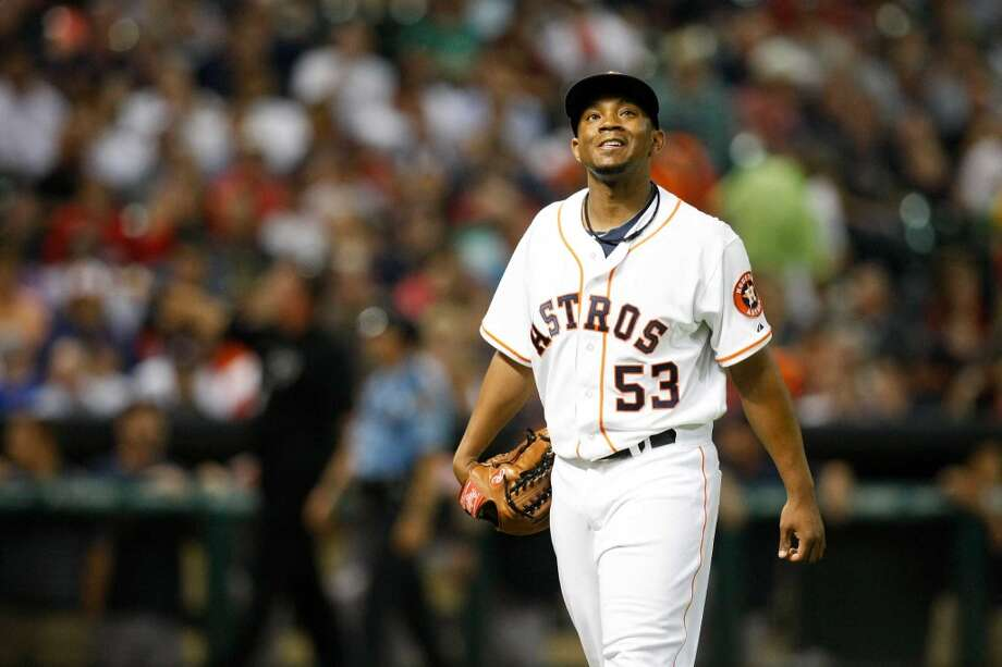In mid-August, the Astros quietly sent reliever Wesley Wright to Tampa Bay for cash considerations, a funny term because when the Astros made that move it shipped out the last player on their active roster making more than the miniumu. With Wright and his $1.025 million contract gone, the 25-man roster essentially was making $12.5 million, or $500,000 a player. When the season started, the payroll for players on the field was about $21 million (not counting the $5 million the team was still paying Wandy Rodriguez, traded to the Pirates a year earlier). Photo: Johnny Hanson, Houston Chronicle