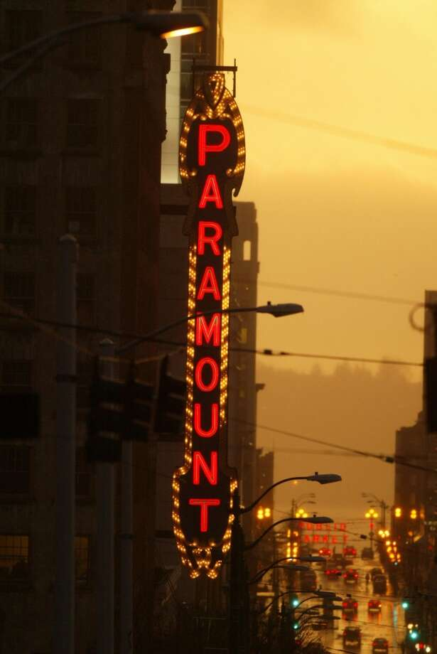 The Paramount Theatre replaced this historic, six-story  and crumbling sign (pictured in 2004) with a beautiful replica in 2004. Photo: PHIL H. WEBBER, Seattle Post-Intelligencer