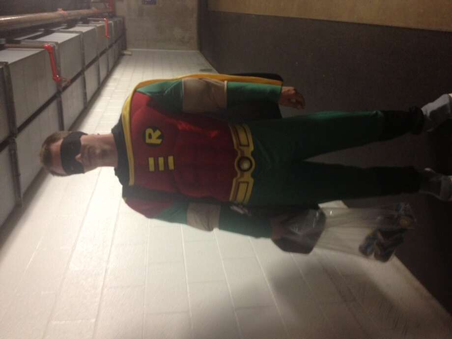 Sonny Gray as Robin (Batman not included). Photo: Courtesy Jane Lee, MLB.com