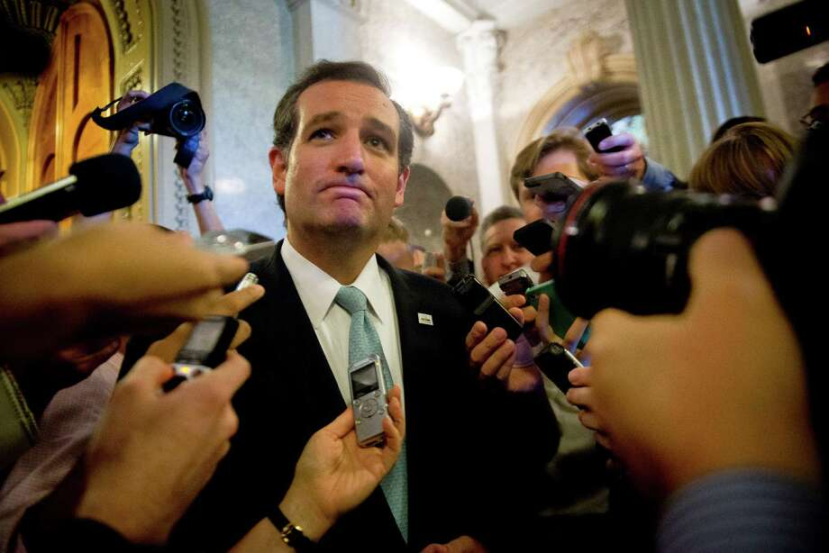 Sen. Ted Cruz, R-Texas, was weary but proud Wednesday after his long speech. Although he scored with conservatives, defunding Obamacare was unlikely. Photo: GABRIELLA DEMCZUK, STF / NYTNS