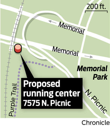 Proposed running center (now a concrete slab) that is immediately to the right of the railroad track running north to south on map.  Upper left from rugby pitch. (new address) is 7575 North Picnic Lane.