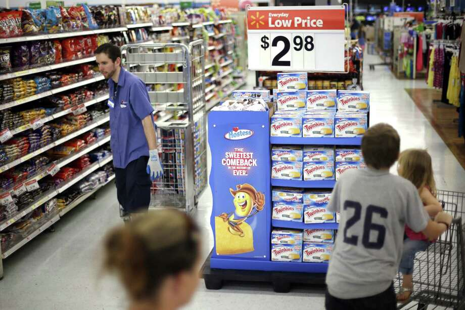 Walmart's inventory has been piling up because shoppers have spent less freely than projected. The growth outstripped second-quarter sales gains at a faster rate than at the retailer's rivals. Photo: Associated Press File Photo