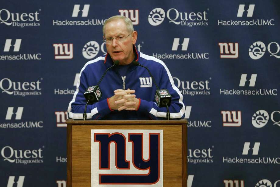 New York Giants head coach Tom Coughlin talks during media availability before the start of NFL football practice, Wednesday, Sept. 25, 2013, in East Rutherford, N.J. (AP Photo/Julio Cortez) ORG XMIT: NJJC101 Photo: Julio Cortez / AP