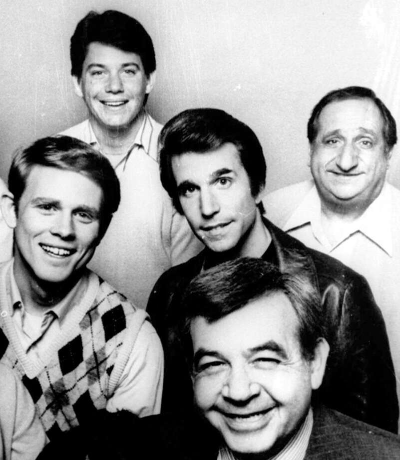 """Thank you, """"Happy Days,"""" for Fonzie. We couldn't have asked for a cooler role model. The show debuted in 1987."""