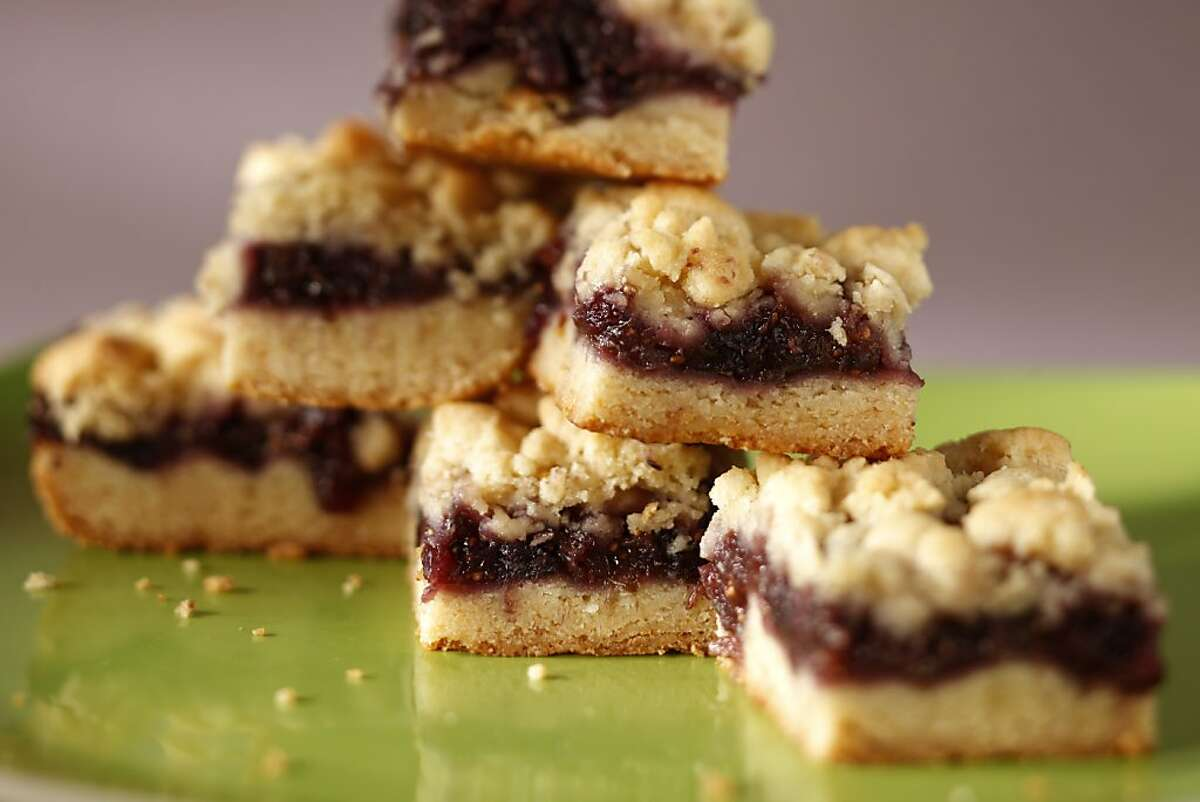 Fig Bars as seen in San Francisco, California, on Wednesday September 18, 2013. Food styled by Kathryn Scholte.