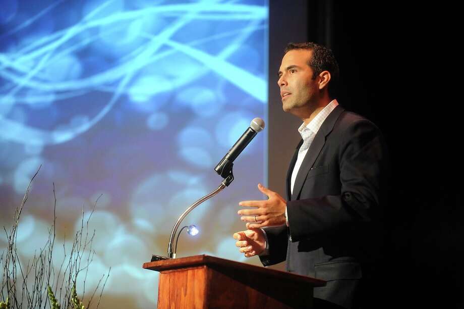 George P. Bush, GOP candidate for land commissioner, speaks at the Seguin Chamber of Commerce annual banquet on Wednesday, Sept. 25, 2013. Photo: Billy Calzada, San Antonio Express-News / San Antonio Express-News