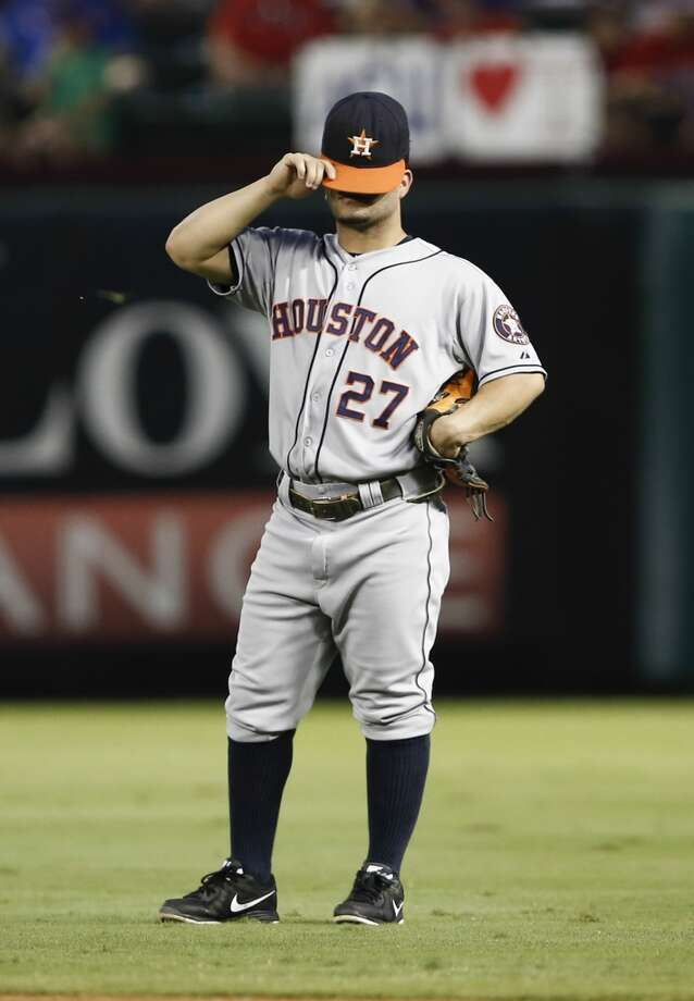 Sept. 25 - The night after setting the season-high mark for consecutive losses, the Astros set a franchise record by losing their 108th game of the season. Photo: Jim Cowsert, Associated Press