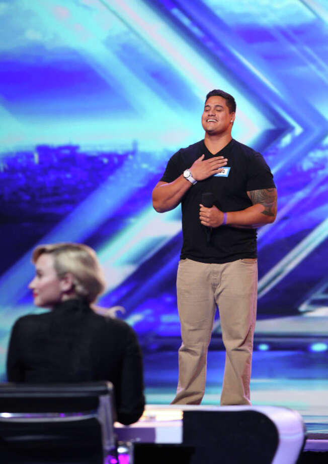 THE X FACTOR: Isaac Tauaera performs in front of the judges on THE X FACTOR airing Wednesday, Sep. 25 (8:00PM-10:00PM ET/PT) on FOX. CR: Craig Blankenhorn / FOX. ©Copyright 2013 FOX Broadcasting.
