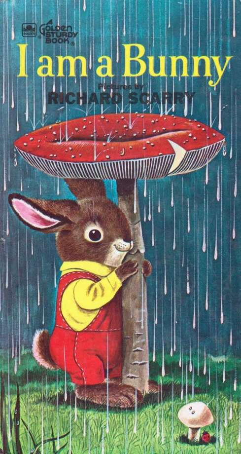 I Am a Bunny: A bunny named Nicholas is the star of this simple, gentle story illustrated by Richard Scarry. He likes to sniff the flowers in the spring, watch the frogs in the pond in the summer, see the animals get ready for winter in the fall, and finally the snow fall in winter.