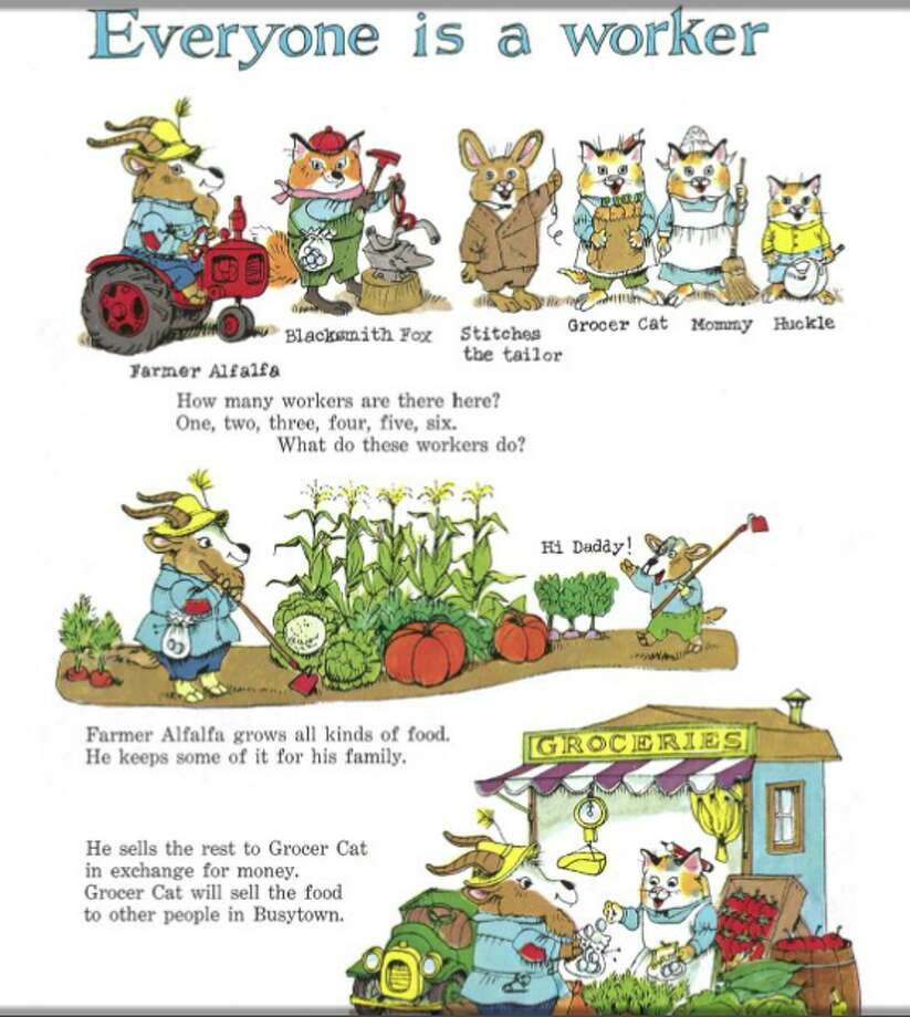 What Do People Do All Day?: This Richard Scarry favorite shows what busy people do all day—build houses, fly planes, grow food—through detailed illustrations.