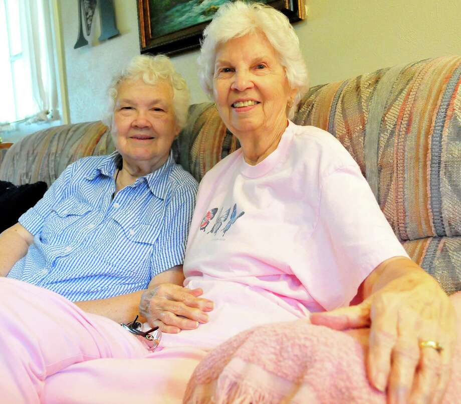 Bobbie Adams, 81, and Judy Mitchell, 82, have been friends since 1952. The duo have lived in Lumberton long before the area was incorporated. Photo: Cassie Smith