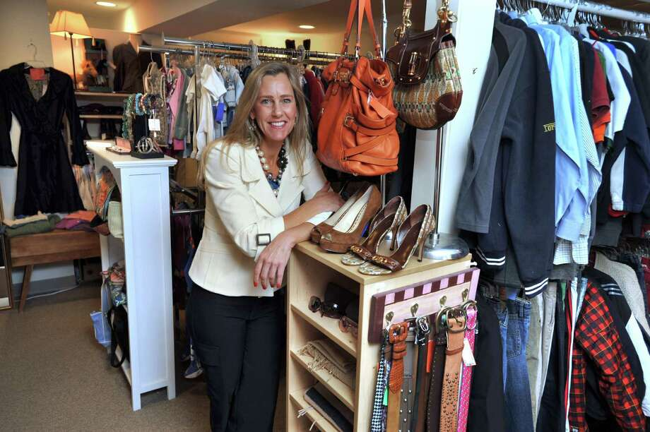 Maura Sullivan, the owner of Children's Cottage at the Carriage House, is photographed in her Ridgefield, Conn. consignment shop, Thursday, Sept. 26, 2013. Photo: Carol Kaliff / The News-Times