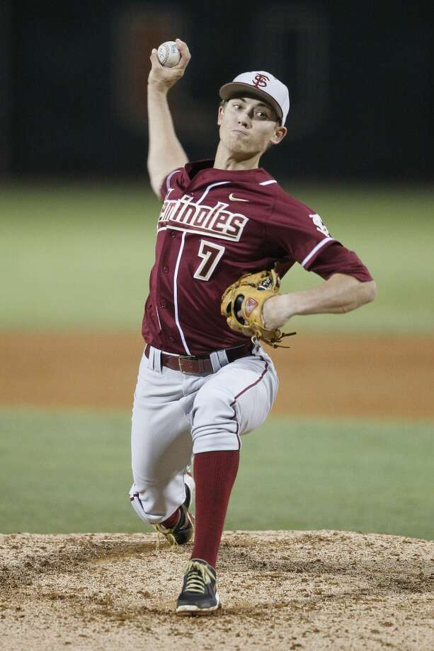 RHP Luke Weaver  Height/weight: 6-2, 170 pounds  School: Florida State Photo: Joel Auerbach, Getty Images