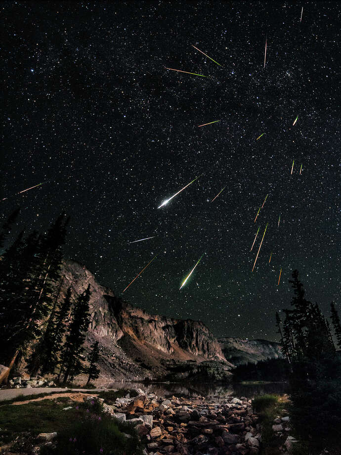 "David Kingham, ""Snowy Range Perseid Meteor Shower""Highly Commended - Earth & Space Category Photo: David Kingham, Astronomy Photographer Of The Year 2013 Exhibition At The Royal Observatory Greenwich / Snowy Range Perseid Meteor Shower © David Kingham"