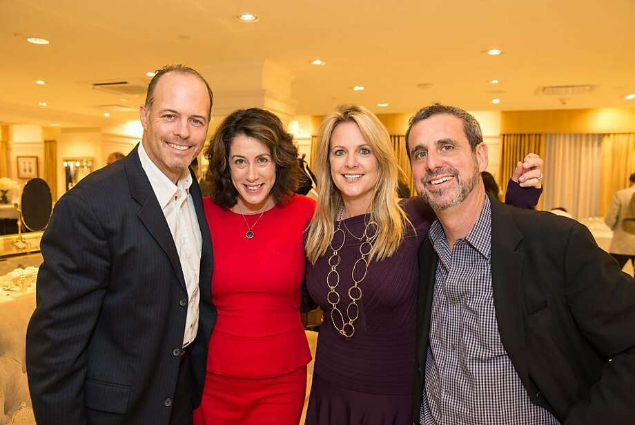 Geoff Callan, Christine Pelosi, Hilary Newsom Callan and Peter Kaufman attend the Brooks Brothers San Francisco Fall Antiques show on Tuesday, Sept. 24. Photo: Drew Altizer Photography/SFWIRE, Drew Altizer For Drew Altizer Ph
