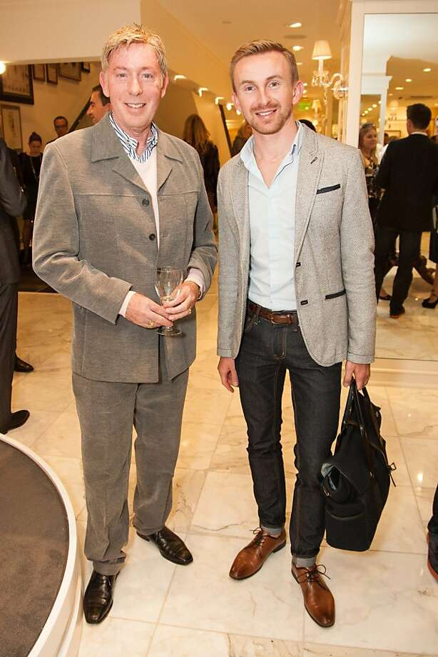 Jeff Clocher and Konrad Janus attend the Brooks Brothers San Francisco Fall Antiques show on Tuesday, Sept. 24. Photo: Drew Altizer Photography/SFWIRE, Tara Luz Stevens For Drew Altize