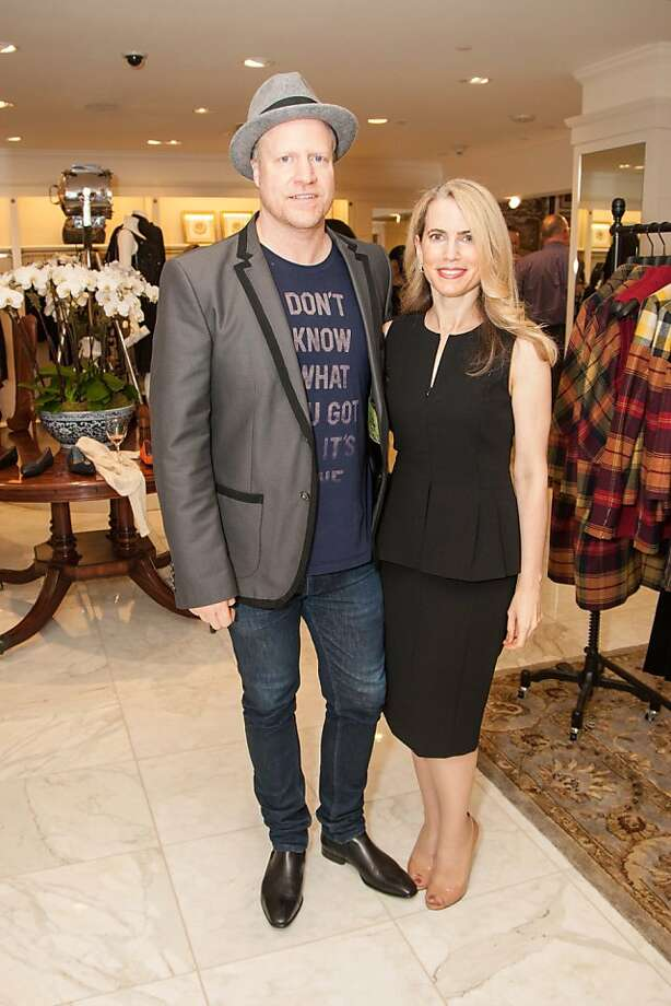 Dan Vickrey and Nadine Weil attend the Brooks Brothers San Francisco Fall Antiques show on Tuesday, Sept. 24. Photo: Drew Altizer Photography/SFWIRE, Tara Luz Stevens For Drew Altize