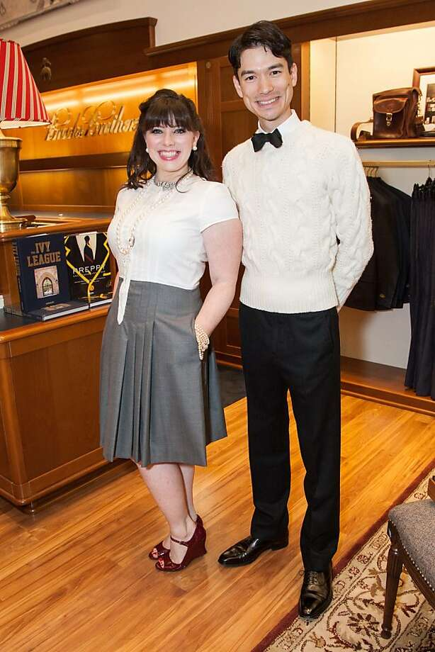 Tiffany Green and Andrew Johnson attend the Brooks Brothers San Francisco Fall Antiques show on Tuesday, Sept. 24. Photo: Drew Altizer Photography/SFWIRE, Tara Luz Stevens For Drew Altize