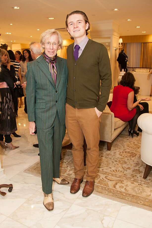 Greg Solem and Sam Eriksmoenattend the Brooks Brothers San Francisco Fall Antiques show on Tuesday, Sept. 24. Photo: Drew Altizer Photography/SFWIRE, Tara Luz Stevens For Drew Altize