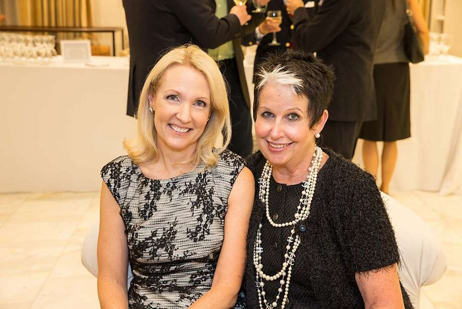 Ann Girard and Karen Kubin attend the Brooks Brothers San Francisco Fall Antiques show on Tuesday, Sept. 24. Photo: Drew Altizer Photography/SFWIRE, Drew Altizer For Drew Altizer Ph
