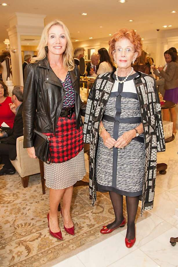 Rosemary Bakker and Phoebe Cowlesattend the Brooks Brothers San Francisco Fall Antiques show on Tuesday, Sept. 24. Photo: Drew Altizer Photography/SFWIRE, Tara Luz Stevens For Drew Altize