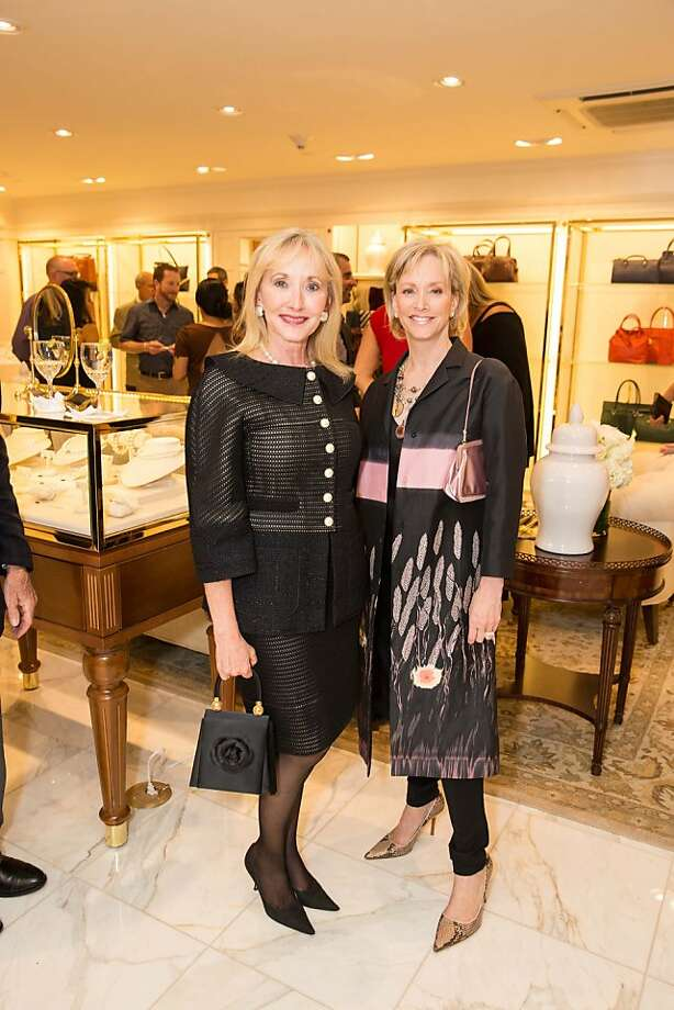 Merrill Kasper and OJ Shansby attend the Brooks Brothers San Francisco Fall Antiques show on Tuesday, Sept. 24. Photo: Drew Altizer Photography/SFWIRE, Drew Altizer For Drew Altizer Ph