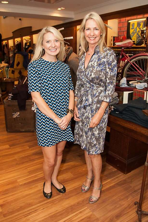Kathy Geissler Best and Erin Calihanattend the Brooks Brothers San Francisco Fall Antiques show on Tuesday, Sept. 24 Photo: Drew Altizer Photography/SFWIRE, Tara Luz Stevens For Drew Altize
