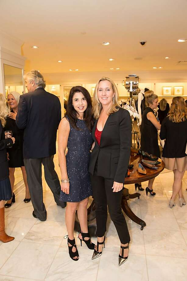 Candace Cavenaugh and Maria Tenaglia attend the Brooks Brothers San Francisco Fall Antiques show on Tuesday, Sept. 24. Photo: Drew Altizer Photography/SFWIRE, Drew Altizer For Drew Altizer Ph