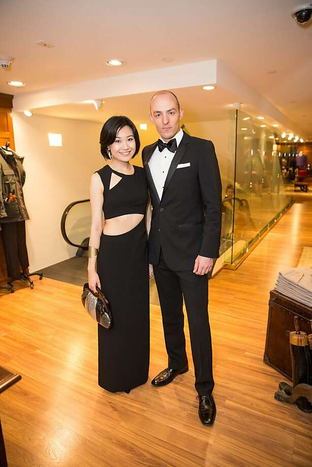 Dian Liu and Paul Lanning attend the Brooks Brothers San Francisco Fall Antiques show on Tuesday, Sept. 24. Photo: Drew Altizer Photography/SFWIRE, Drew Altizer For Drew Altizer Ph