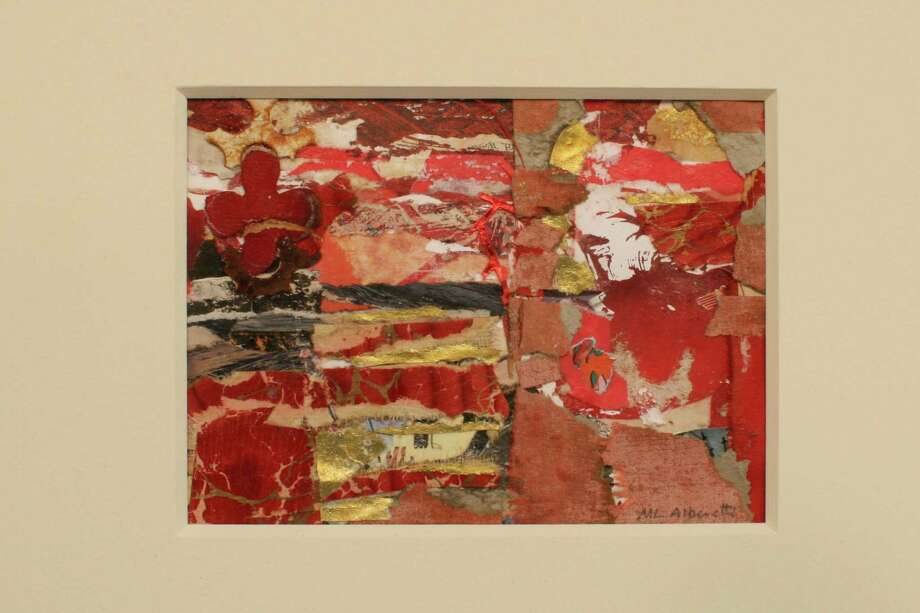 This collage will be among the works displayed in ìTwo Views,î an exhibit of paintings, sculpture and mixed media by Mary Lou Alberetti and Robert Alberetti at Minor Memorial Library. The show opens with a reception on Saturday, Oct. 5. Photo: Contributed Photo