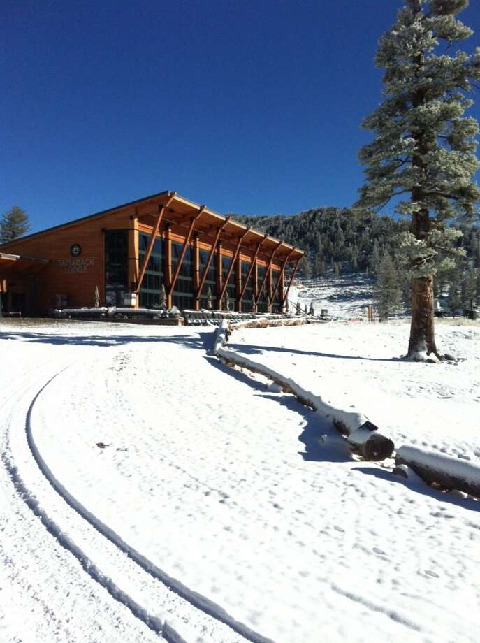 Tamarack Lodge at Heavenly Ski Resort gets a respectable layer of snow to welcome fall. Photo: Heavenly Ski Resort