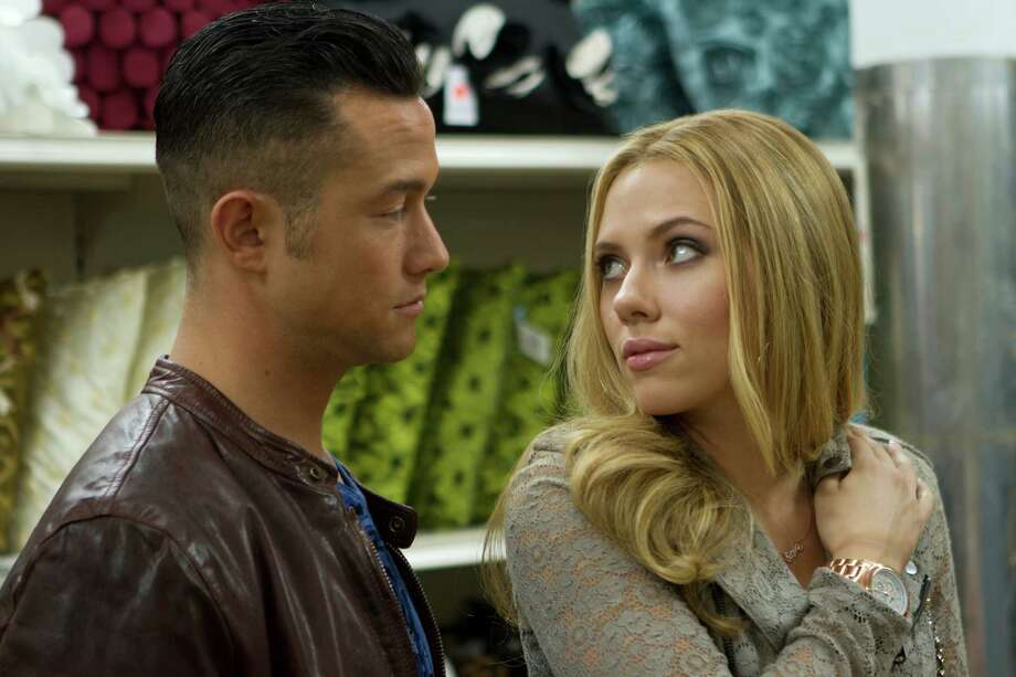 "This film image released by Relativity Media shows Joseph Gordon-Levitt, left, and Scarlett Johansson in a scene from ""Don Jon"". (AP Photo/Relativity Media, Daniel McFadden) Photo: Daniel McFadden, HOEP / Relativity Media"