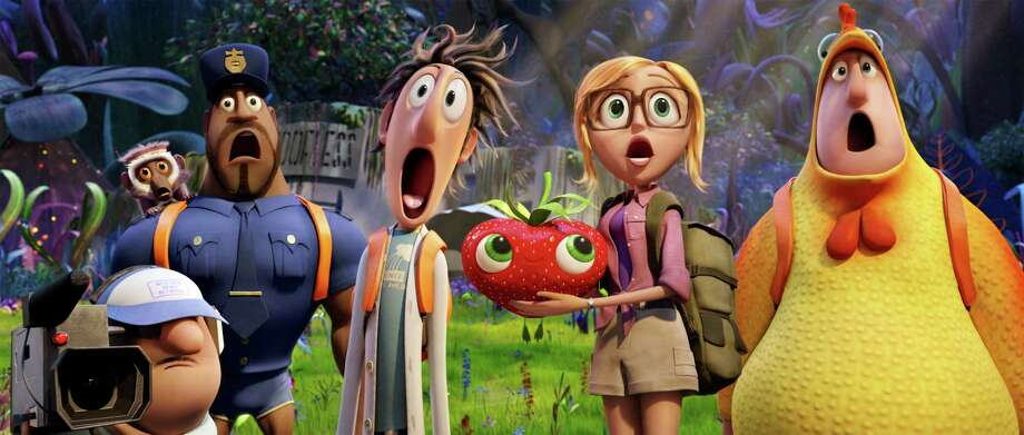 "The adventurous bunch in ""Cloudy With a Chance of Meatballs 2"" discovers a land populated by strange food/animal hybrids. Photo: HOEP / Sony Pictures Animation"