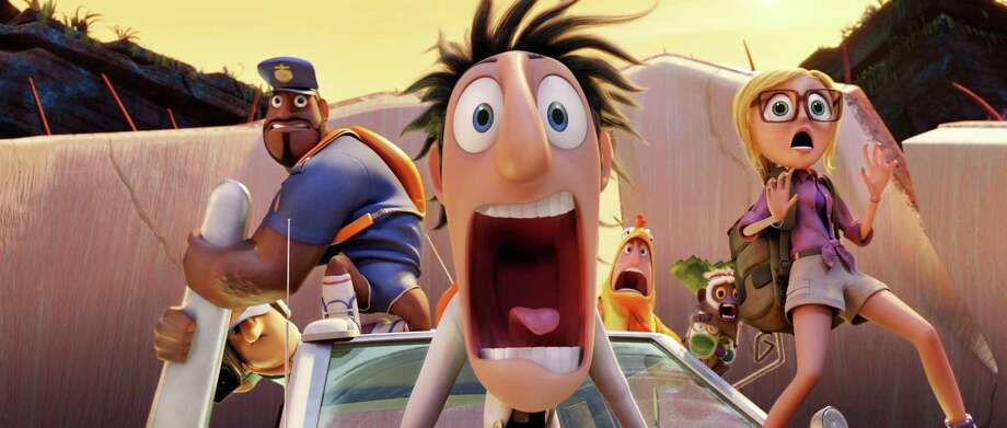 """Cloudy with a Chance of Meatballs"" was, of course, known to Israelis as ""It's Raining Falafel."" Photo: HOEP / Sony Pictures Animation"